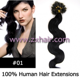 "Wholesale 100S 20"" Nail tip hair remy wave  Human Hair Extensions #01"