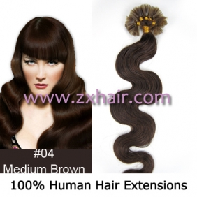 "Wholesale 100S 20"" Nail tip hair remy wave  Human Hair Extensions #04"
