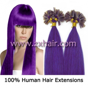 "Wholesale 100S 18"" Nail tip hair remy Human Hair Extensions #lila"