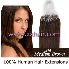 "Wholesale 100S 16"" Micro rings/loop hair remy human hair extensions #04"