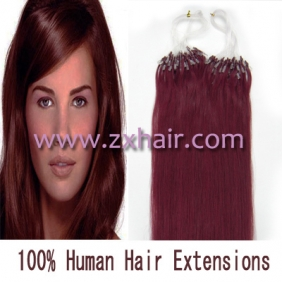 "Wholesale 100S 18"" Micro rings/loop hair remy human hair extensions #bug"
