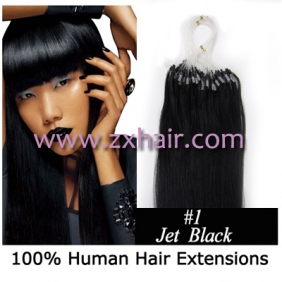 "Wholesale 100S 24"" Micro rings/loop hair remy human hair extensions #01"