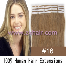 "Wholesale 16"" 30g Tape Human Hair Extensions #16"