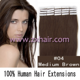 "Wholesale 18"" 40g Tape Human Hair Extensions #04"