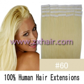 "Wholesale 22"" 60g Tape Human Hair Extensions #60"