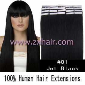 "Wholesale 24"" 70g Tape Human Hair Extensions #01"