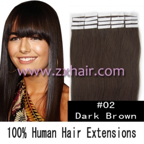 "Wholesale 24"" 70g Tape Human Hair Extensions #02"