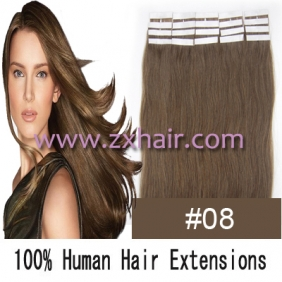"Wholesale 24"" 70g Tape Human Hair Extensions #08"