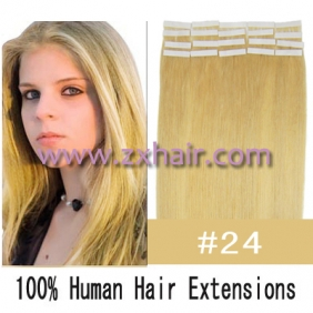 "Wholesale 24"" 70g Tape Human Hair Extensions #24"