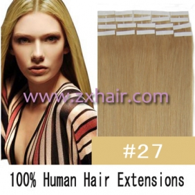 "Wholesale 24"" 70g Tape Human Hair Extensions #27"
