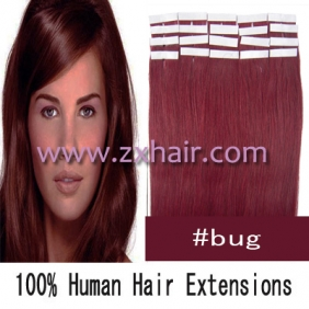 "Wholesale 24"" 70g Tape Human Hair Extensions #bug"