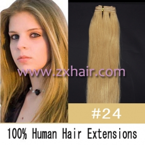 "Wholesale 20"" remy Human Hair Weft/Extensions 50"" Wide #24"