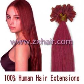"Wholesale 100S 20"" Nail tip hair remy Human Hair Extensions #pink"
