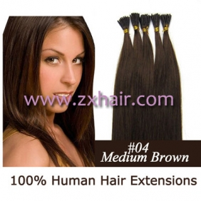 "Wholesale 100S 22"" Stick tip hair remy human hair extensions #04"