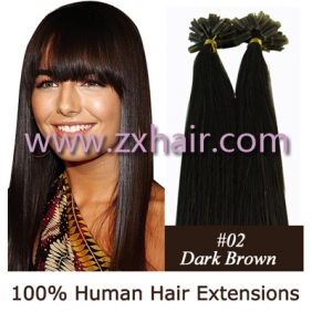 "Wholesale 100S 16"" Nail tip hair remy Human Hair Extensions #02"