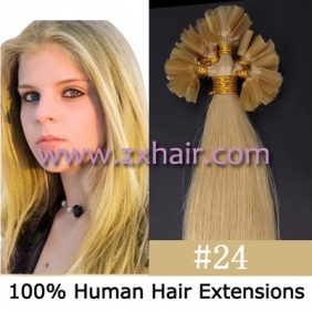 "Wholesale 100S 16"" Nail tip hair remy Human Hair Extensions #24"