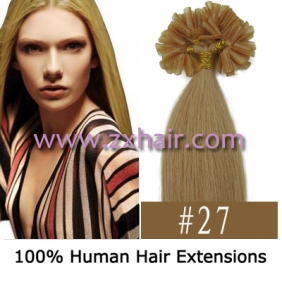 "Wholesale 100S 16"" Nail tip hair remy Human Hair Extensions #27"