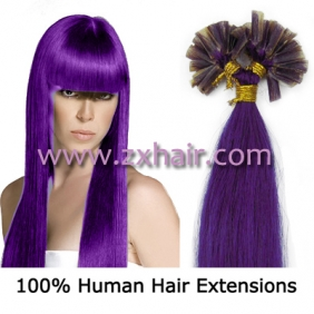 "Wholesale 100S 16"" Nail tip hair remy Human Hair Extensions #lila"