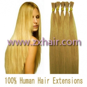 "Wholesale 100S 24"" Stick tip hair remy human hair extensions #27"