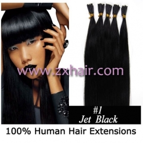 "Wholesale 100S 24"" Stick tip hair remy human hair extensions #01"
