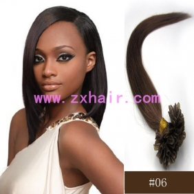 "Wholesale 100S 16"" Nail tip hair remy Human Hair Extensions #06"