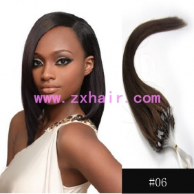 "Wholesale 100S 24"" Micro rings/loop hair remy human hair extensions #06"