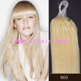 "Wholesale 100S 24"" Micro rings/loop hair remy human hair extensions #60"