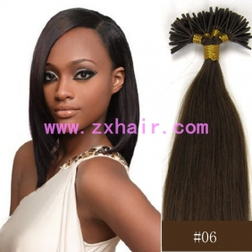 "Wholesale 100S 16"" Stick tip hair remy 0.4g/s human hair extensions #06"