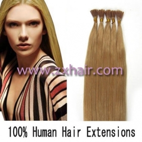 "Wholesale 100S 16"" Stick tip hair remy 0.4g/s human hair extensions #27"
