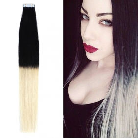 "Wholesale 18"" 40g Tape Human Hair Extensions #1/613 Ombre"