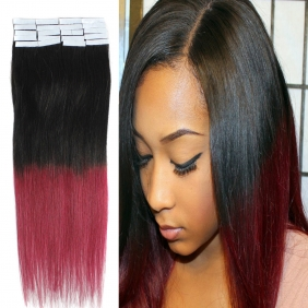 "Wholesale 18"" 40g Tape Human Hair Extensions #1B/BUG Ombre"