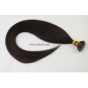"Wholesale 100S 20"" Nano hair human 0.5g/s hair extensions #1B"