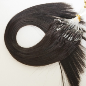 "Wholesale 100S 18"" Micro rings/loop hair 1g/s  human hair extensions #1B Double Beads"