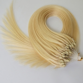 "Wholesale 100S 18"" Micro rings/loop hair 1g/s  human hair extensions #613 Double Beads"