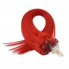 "Wholesale 100S 18"" Micro rings/loop hair 1g/s  human hair extensions #red Double Beads"