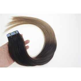 "Wholesale 24"" 70g Tape Human Hair Extensions #02/12 Ombre"