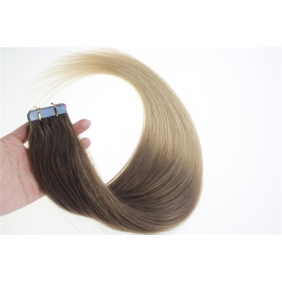 "Wholesale 24"" 70g Tape Human Hair Extensions #06/20 Ombre"