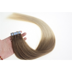 "Wholesale 24"" 70g Tape Human Hair Extensions #12/613 Ombre"
