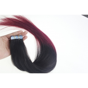 "Wholesale 24"" 70g Tape Human Hair Extensions #1B/BUG Ombre"