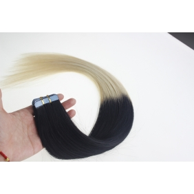 "Wholesale 24"" 70g Tape Human Hair Extensions #01/613 Ombre"