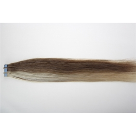 "Wholesale 24"" 70g Tape Human Hair Extensions #12/613 Mixed"