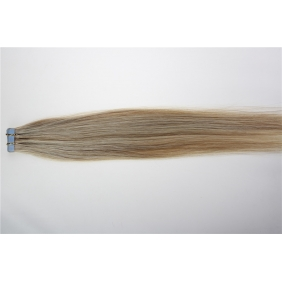 "Wholesale 24"" 70g Tape Human Hair Extensions #18/613 Mixed"
