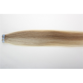 "Wholesale 24"" 70g Tape Human Hair Extensions #27/613 Mixed"