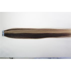 "Wholesale 24"" 70g Tape Human Hair Extensions #4/27 Mixed"