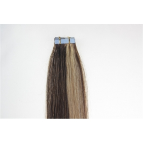 "Wholesale 22"" 60g Tape Human Hair Extensions #4/27 Mixed"