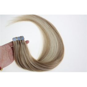 "Wholesale 16"" 30g Tape Human Hair Extensions #18/613 Mixed"
