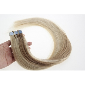 "Wholesale 16"" 30g Tape Human Hair Extensions #27/613 Mixed"