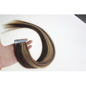 "Wholesale 16"" 30g Tape Human Hair Extensions #4/27 Mixed"