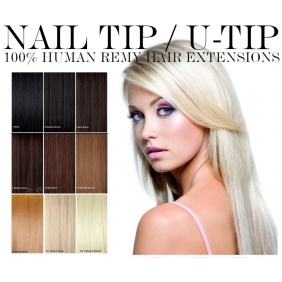 "Wholesale 100S 16""-22\"" Nail U tip hair 1g/s  human hair extensions 28 colors Double Drawn"