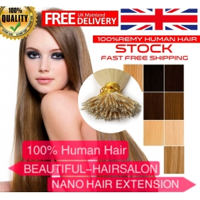 "Wholesale 100S 16""-22""  Nano hair 1g/s  human hair extensions 28 Colors  Double Drawn"